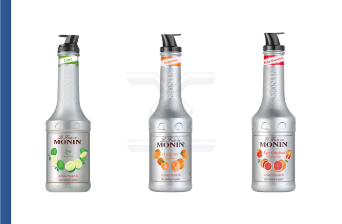 Monin Lime, Ruby Grapefruit and Tangerine Puree